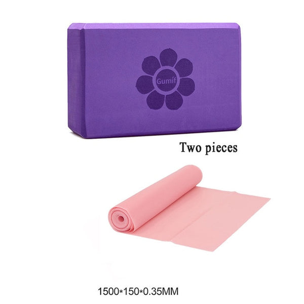 Yoga Block brick Foam 2Pcs Exercise fitness foam set Workout Fitness Bolster Pillow Cushion EVA Gym Training Body Shaping 6 colo