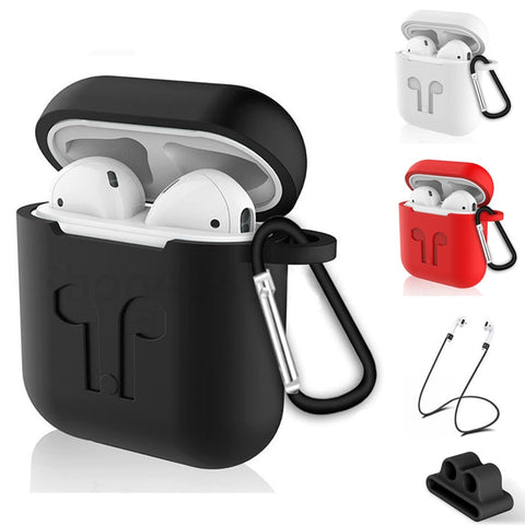 AirPods Case Protective Silicone Cover Shockproof Earpods Case for Apple Air pods Case Soft Thin Anti Slip Earbud Capa