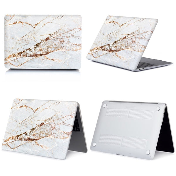 Marble Hard Shell Laptop Case for Macbook Touch ID Air 13 Pro Retina 12 13 15 New Touch Bar For Macbook Air 13 +Keyboard Cover