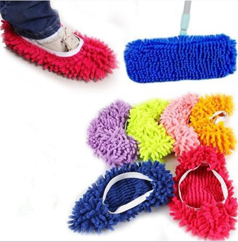 Microfiber Mop Floor Cleaning Lazy Fuzzy Slippers House Home Flooring Tools Shoes Bathroom Kitchen Cleaner