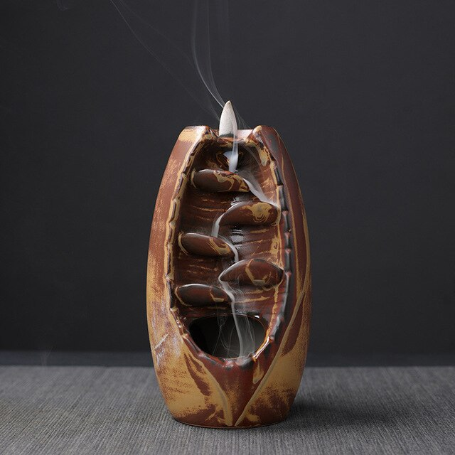 Creative Backflow Incense Burner Aromatherapy Furnace Aromatic Home Teahouse Decor Crafts Incense Wierook Holder