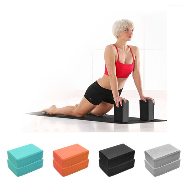 Gym Blocks Foam Brick Training Exercise Fitness Set Tool Yoga Bolster Pillow Cushion Stretching Body Shaping Health Training
