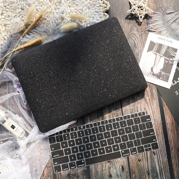Marble Flower Pattern Laptop Case Keyboard Cover for New MacBook Air
