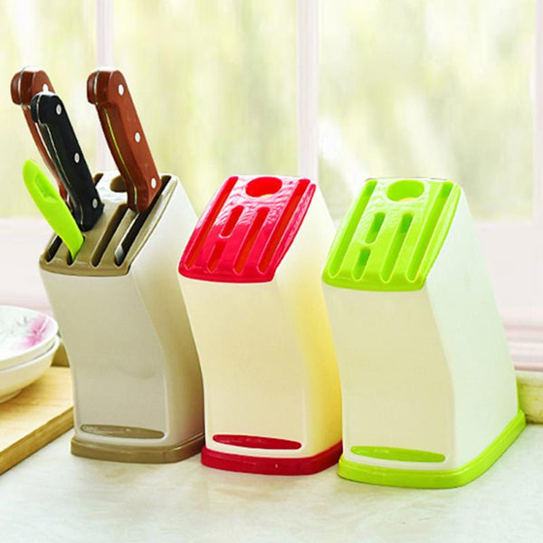 Multifunctional Knife Storage Rack Universal Kitchen Accessories Light Drain Plastic Knife Holder
