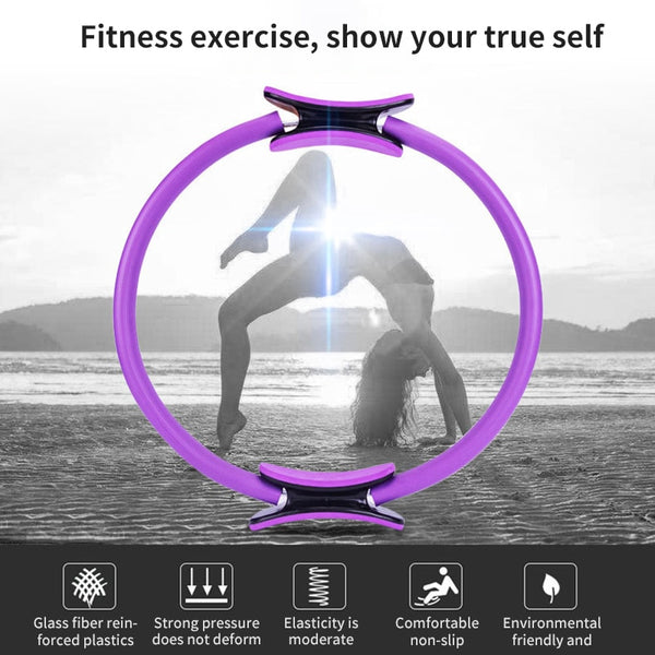 Yoga Ring Sports Training Ring Women Fitness Accessories Kinetic Resistance Circle Comfortable Portable Yoga Pilates Circle