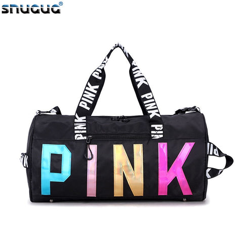 2020 New Sport Bag Large Pink Gym Bag Woman Waterproof Fitness Bag For Men Training Yoga Sac De Sport Femme Travel Bags Sporttas
