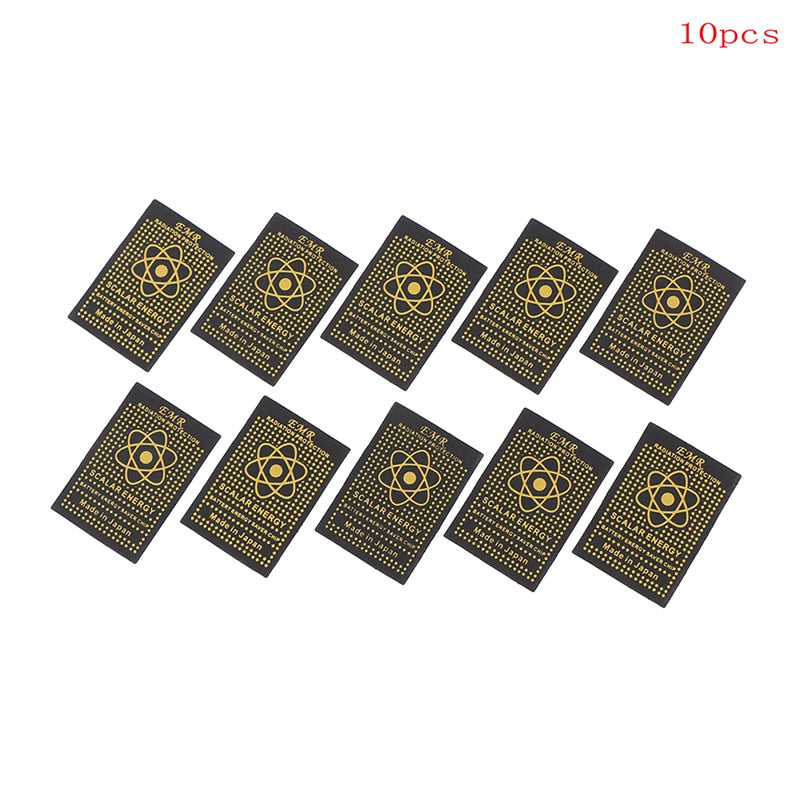 10pcs EMR scalar energy phone sticker anti radiation chip shield keep health