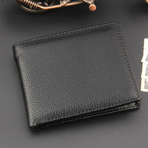 Leather Simple Wallet for men