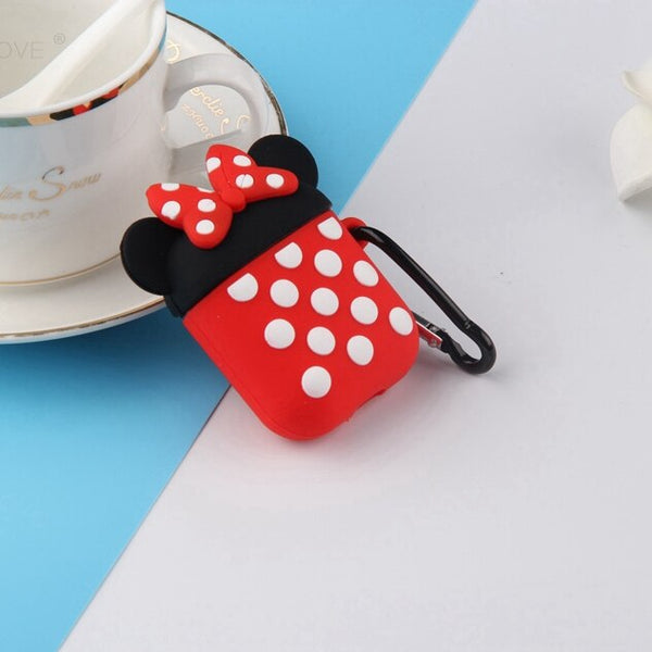 Anime Cute Earphone Case for Airpods 2 Case Silicone Stitch Cartoon Soft Headphone/Earpods Cover for Apple Air Pods 1 case skin