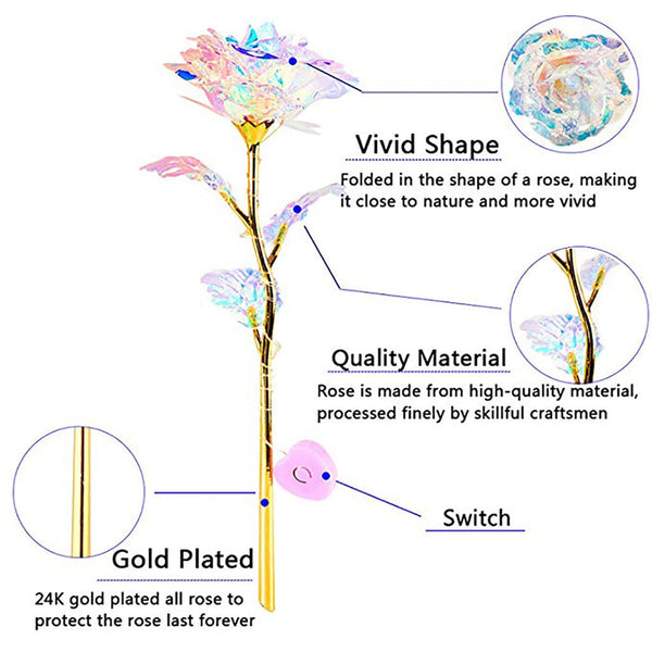 Colorful Luminous Rose Artificial LED Light Flower Unique Gifts For Girls rose artificial flowers home decoration accessories