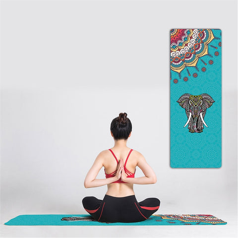 Classic Mandola Yoga Towel Diamond Texture Non-slip Portable Travel Yoga Mat Towel Pilates Cover Fitness Yoga Blanket