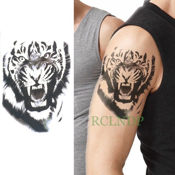 Waterproof Temporary Tattoo Stickers on Body Tribal Totem Fake Tatto Flash Tatoo Back Leg Arm belly big size for Women Men girl