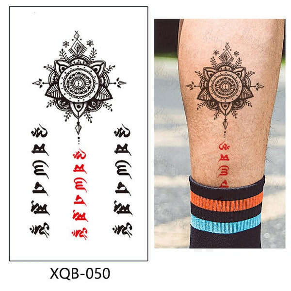 Temporary Tattoo Sticker Flower And Animals Makeup Flash Waterproof  Fashion Small Body Art Men Women