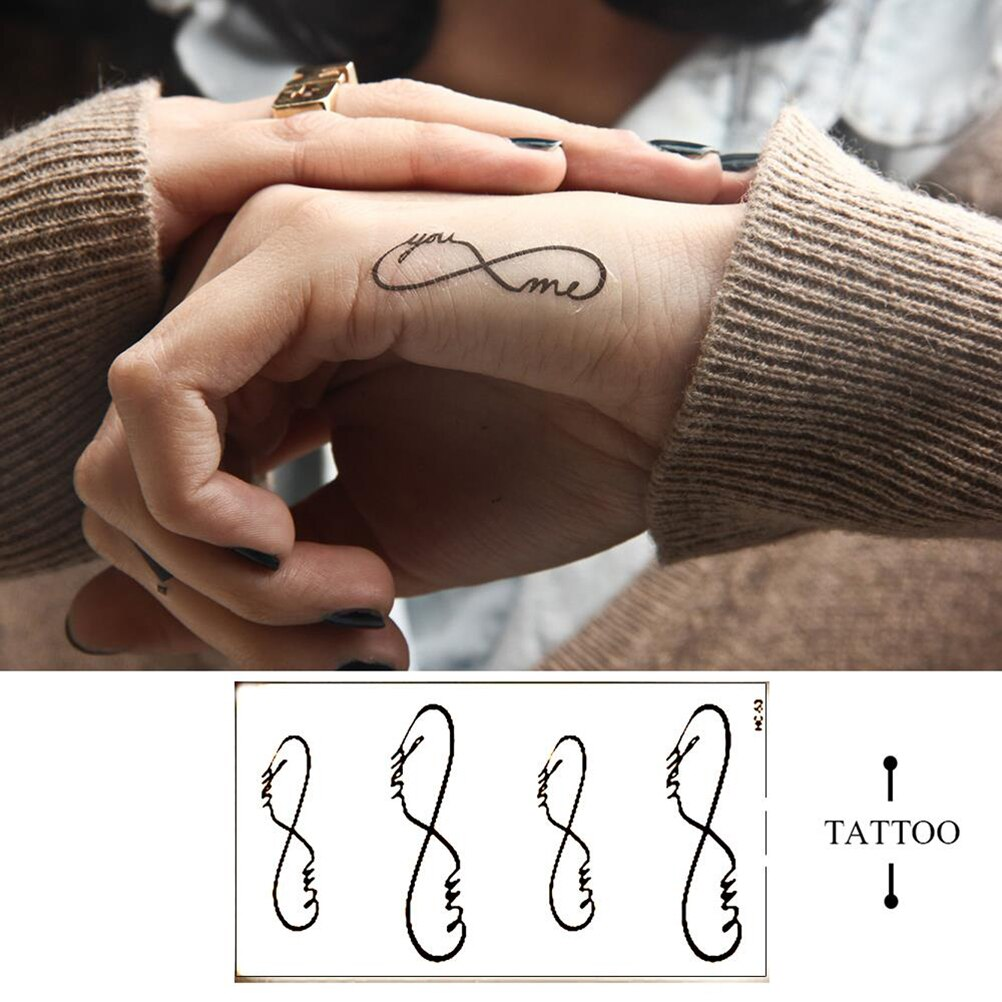 Stickers Body Art Waterproof Tattoos Removable You&Me Temporary Tattoo Skin Beauty 10*6cm