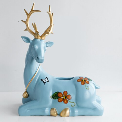 Resin Deer Sculpture Household Decoration Paper Towel Box Covering Animal Containers Table Deer Sculpture Household Decoration