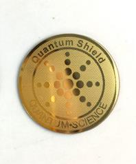New quantum shield gold negative ion anti radiation sticker shield 10pcs/lot