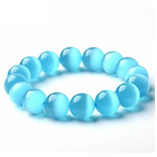 hotomoto: Blue Opal Beads Bracelet & Bangle for Women