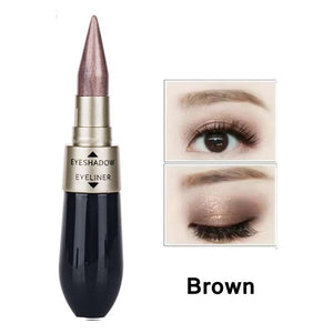 Pearly Glimmer Waterproof Eye shadow Black Eye Liner Pen Quick Dry Women Eye Beauty Makeup Cosmetic