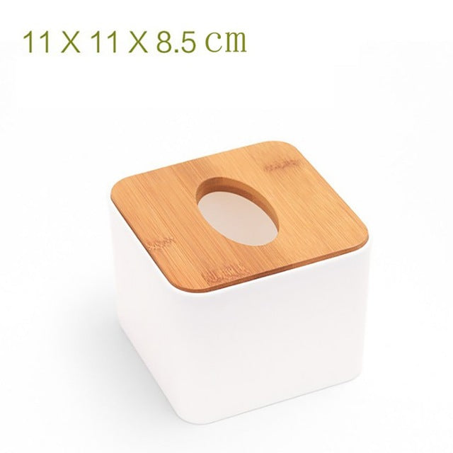 Solid Wood Napkin Holder Square Shape Wooden Plastic Tissue Box Case Home Kitchen Paper Holdler Storage Box Accessories
