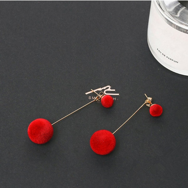 New Fashion Stud Earrings For Women Golden Color Round Ball  Geometric Earrings For Party Wedding Gift