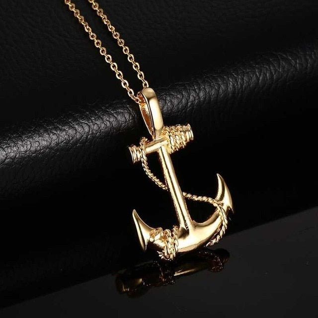 Hotomoto: Cool mens necklaces Creativity Simple Jewelry Accessories and anchor pendant for Men Necklaces especially for mens designer necklaces