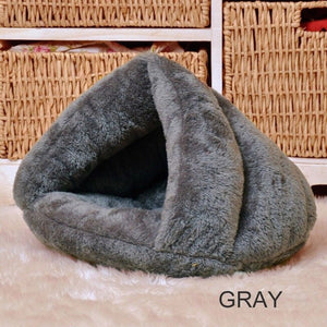 Puppy Pet Cat Dog Soft Warm Nest Kennel Bed Cave House Sleeping Bag Mat Pad Tent S L 5 Colors Pets Winter Warm Cozy Beds