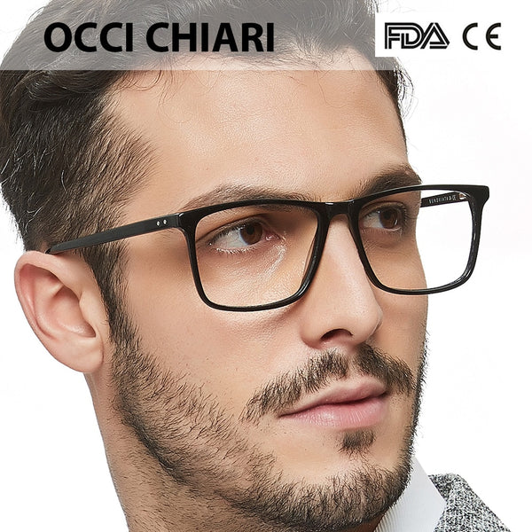 Anti blue light glasses Frame Optical  Men Clear Lens Prescription Anti blue light Acetate Eyewear Eyeglasses