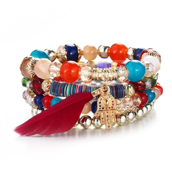 Hotomoto: Crystal Bead Bracelets for Women Vintage Bracelet Female, Charm Bracelets