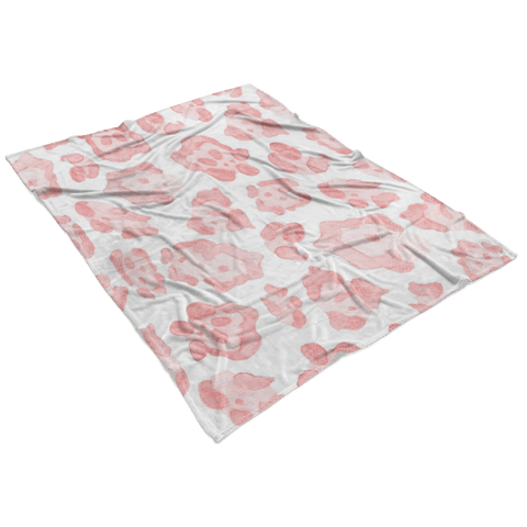 Abstract Sea Turtle Pink Leopard Fleece Blanket Blankets teelaunch