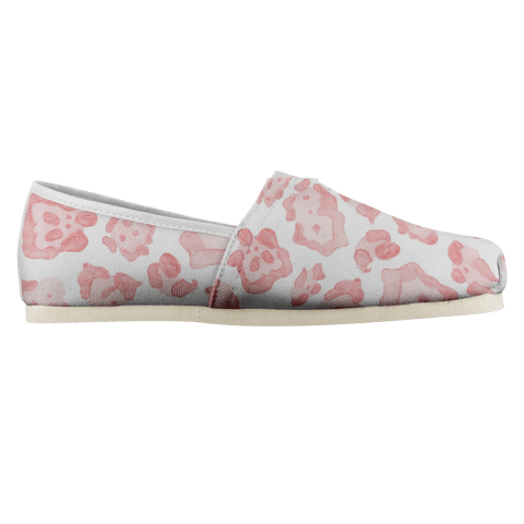 Super Cute & Comfy Abstract Sea Turtle Pink Leopard Ladies Casual Shoe Shoes teelaunch