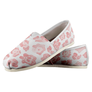 Super Cute & Comfy Abstract Sea Turtle Pink Leopard Ladies Casual Shoe