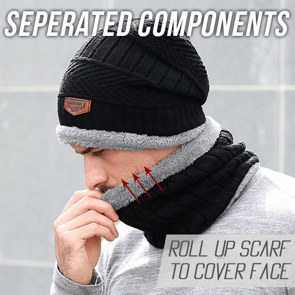Men Beanie Scarf Set