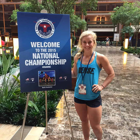 Alexis Burgan at the USA National Weightlifting Championship 2015
