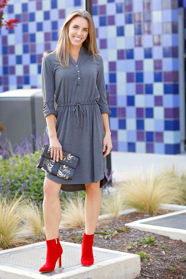 Grey henley dress