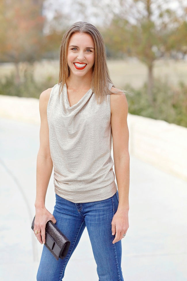 Sparkly Sleeveless Top (2 colors)