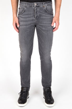 Punk Stretch Script - Grey Used