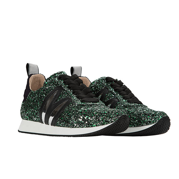 LD RUNNER green glitter