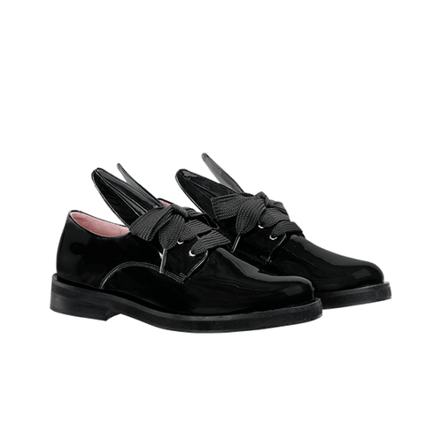 BUNNY LACE UP black