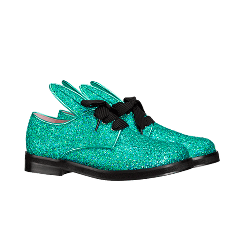 BUNNY LACE UP mermaid glitter