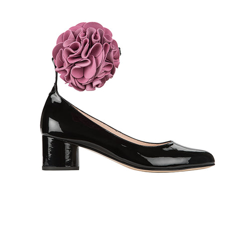 FLOWER black patent-pink