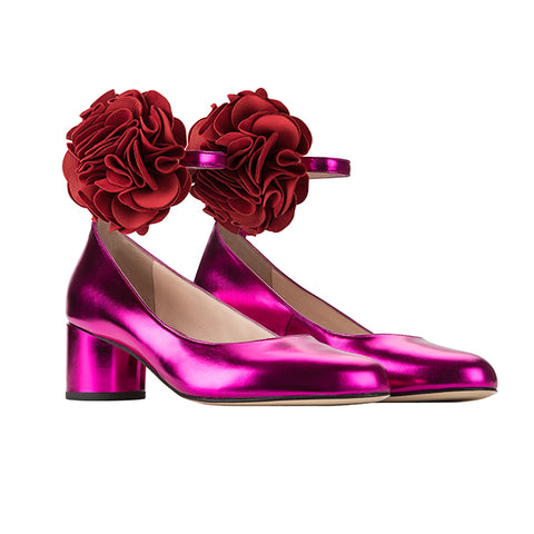FLOWER fuchsia metallic-red