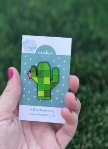 Cactus Pin - Collab with Burlap & Blossom Patterns