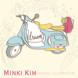 Scooter Enamel Pin - Minki Kim Collab
