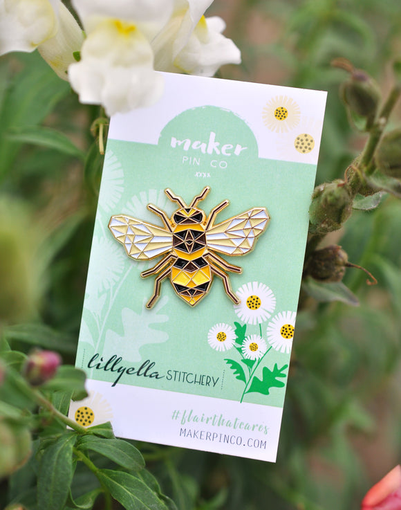 Honey Maker Pin - Collab with Lillyella Stitchery