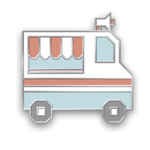 Ice Cream Truck Enamel Pin Collab