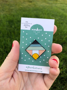 Mountain Horizon Pin - Collab with Lo & Behold Stitchery