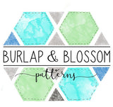 Camper Pin - Collab with Burlap & Blossom Patterns