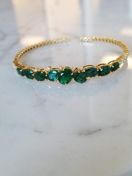 Green Emerald Bangle