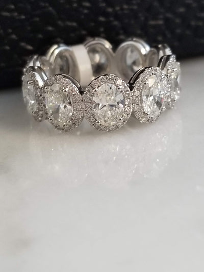 oval halo diamond eternity band wedding band wedding ring infinity band