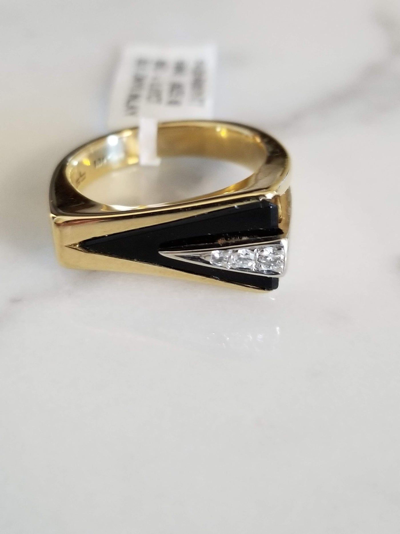 Art Deco Diamond and Onyx Ring